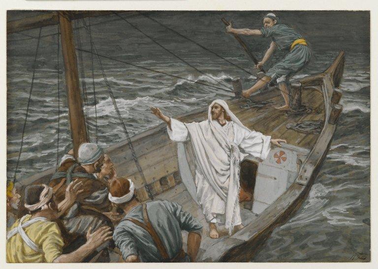 Brooklyn_Museum_-_Jesus_Stilling_the_Tempest_(Jésus_calmant_la_tempête)_-_James_Tissot_-_overall